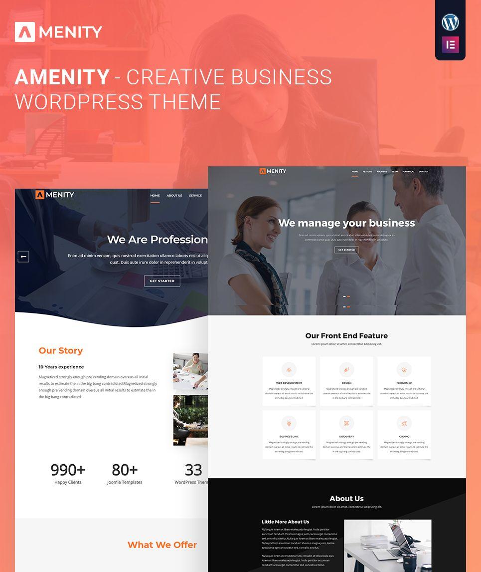 Amenity Business One Page WordPress Theme