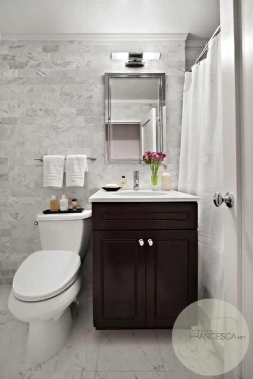 suzie interiors by francesca amazing bathroom with marble subway tiles backsplash coffee - Bathroom Subway Tile Backsplash