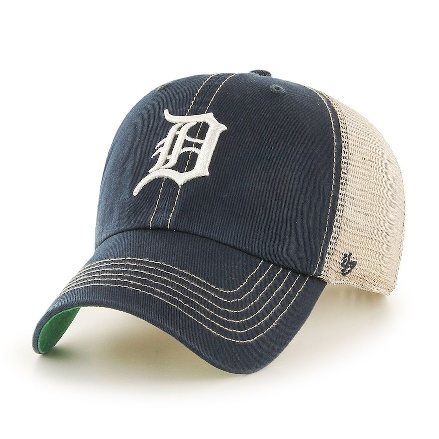 check out 67724 ea9ee Adult 47 Brand Detroit Tigers Trawler Clean Up Hat, Blue (Navy)