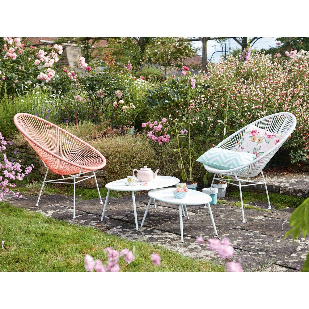 fauteuil de jardin rond blanc maisons