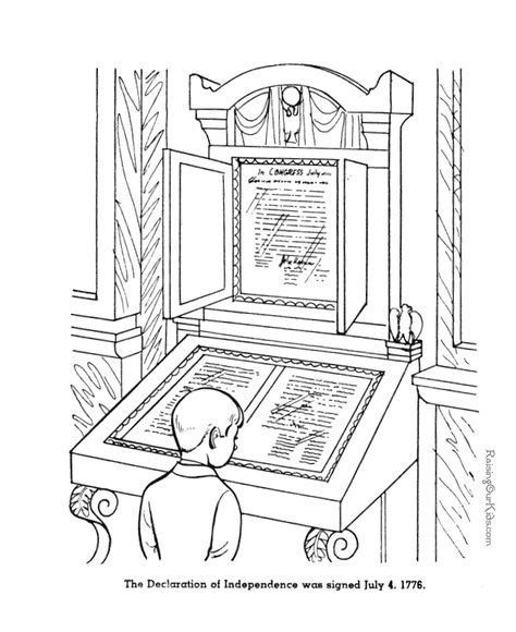 Declaration Of Independence Coloring Page Patriotic
