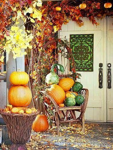 Autumn At Your Doorstep Decorating Porches u0026 Entryways For Fall & Autumn At Your Doorstep: Decorating Porches u0026 Entryways For Fall ...