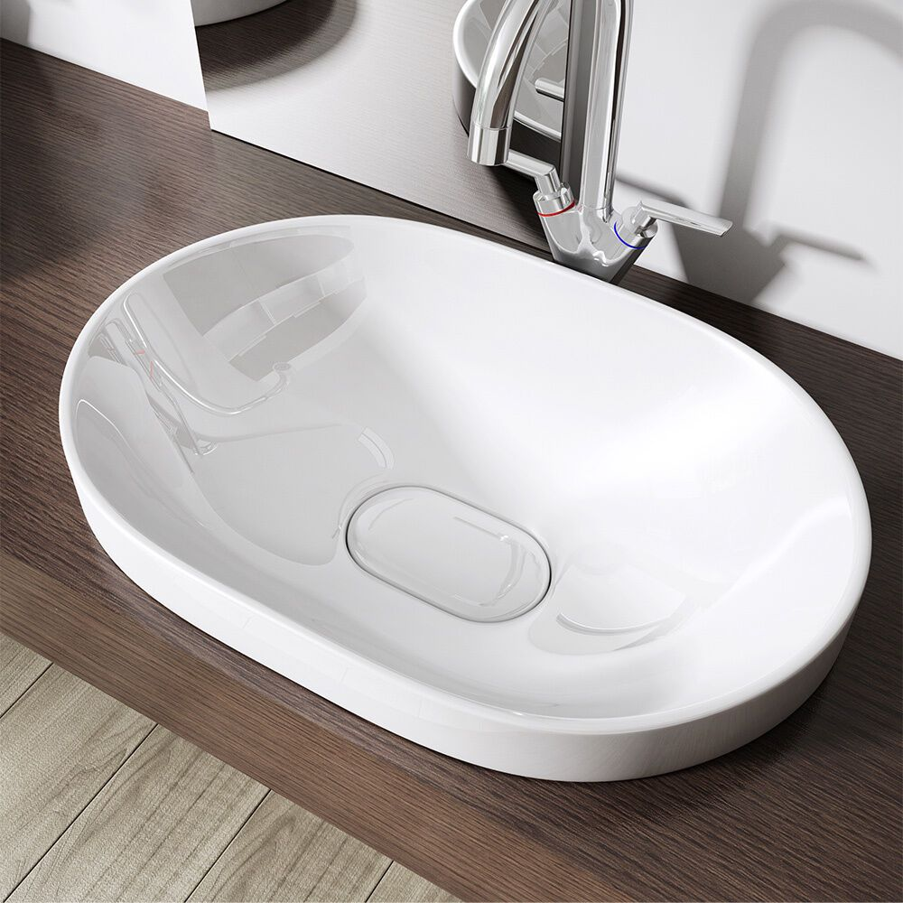 Keramik Waschbecken Nano Aufsatzwaschbecken Einbauwaschbecken