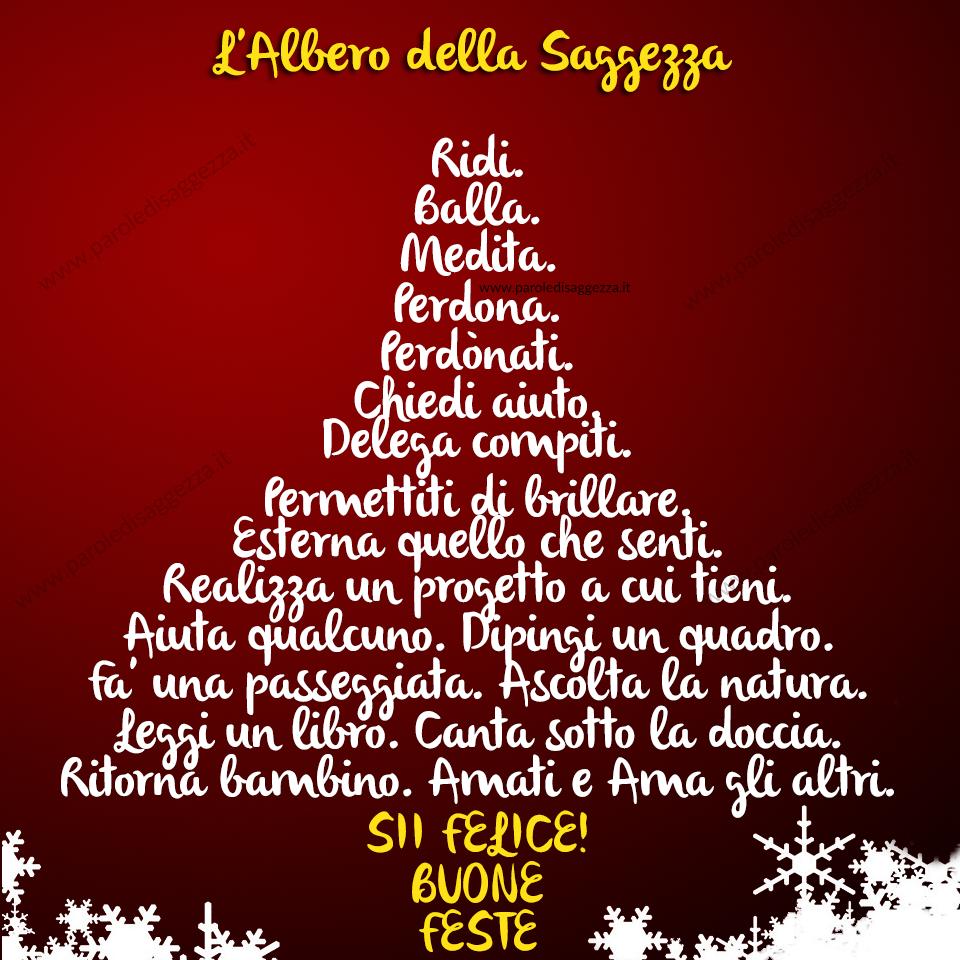 Dediche Di Buon Natale.Buon Natale Albero Di Saggezza Quote Auguri Natale