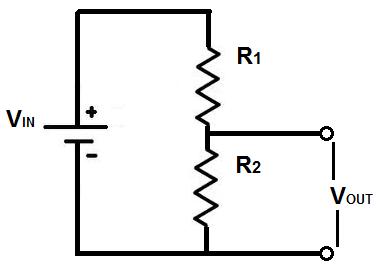 Voltage Divider Circuit Between 2 Resistors Voltage Divider Resistors Inductors