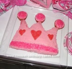 Cute Homemade Princess Crown Cake Princess crown cake Crown cake