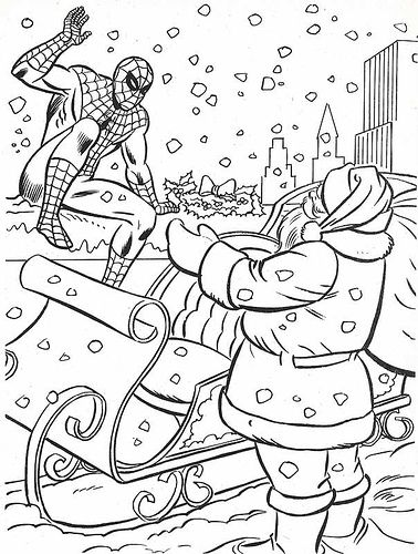 The Marvel Super Heroes Christmas Coloring Book Page  Coloring