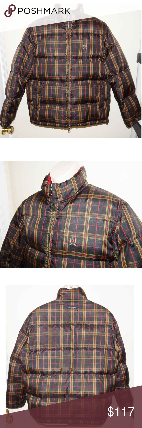 Tommy Hilfiger Mens Medium Down Puffer Jacket Tommy Jeans ...