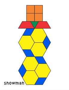 Seasonal Designs Pattern Block Templates Pattern Blocks Math