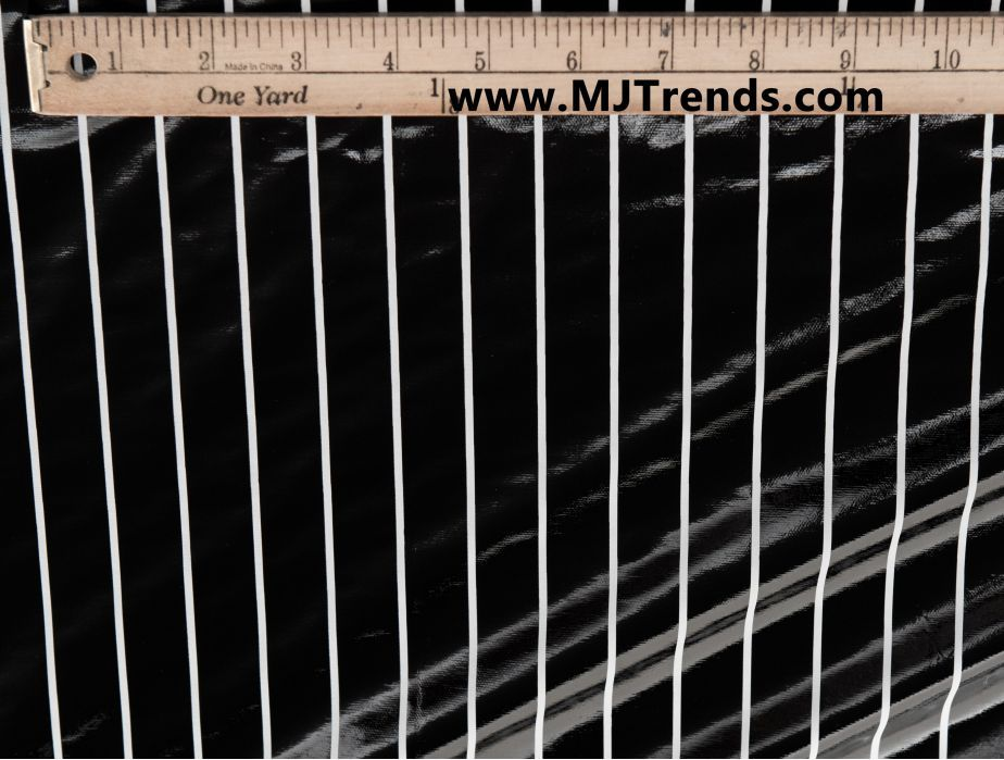MJTrends: Black Pinstripe Vinyl Fabric