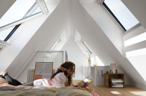 Velux raamdecoratie slaapkamer   zoldertje   Pinterest   Haus umbau ...