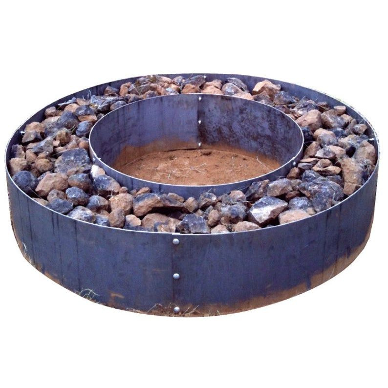 Double Wall Fire Pit Campfire Ring Etsy In 2020 Wall Fires Fire Pit Stone Fire Pit