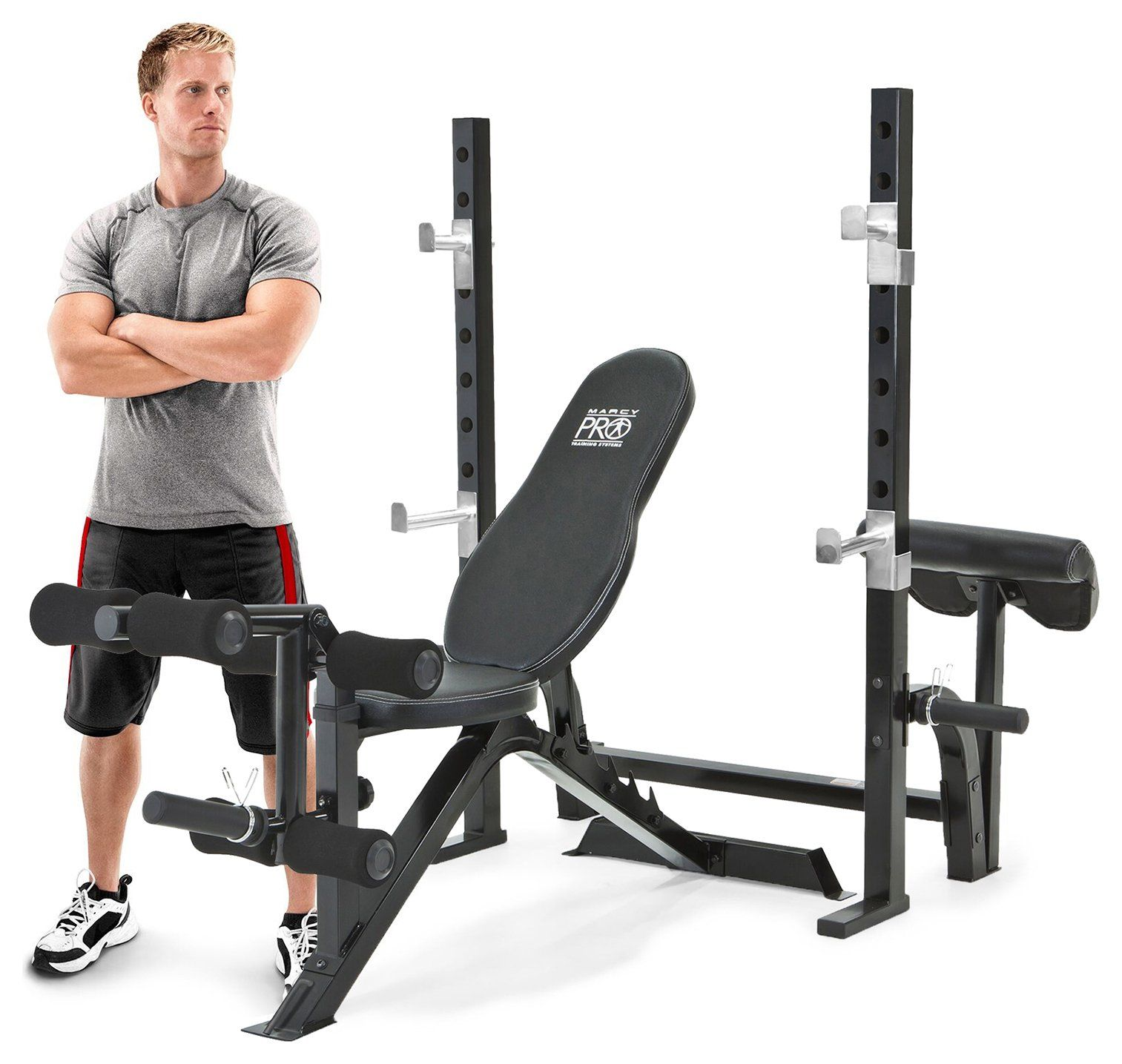 Marcy Pro Olympic Bench With Squat Rack Squat Rack Weight Benches Olympic Weights