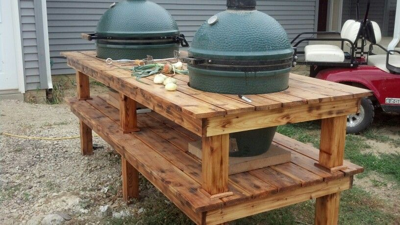 Double big green egg table big green egg table big