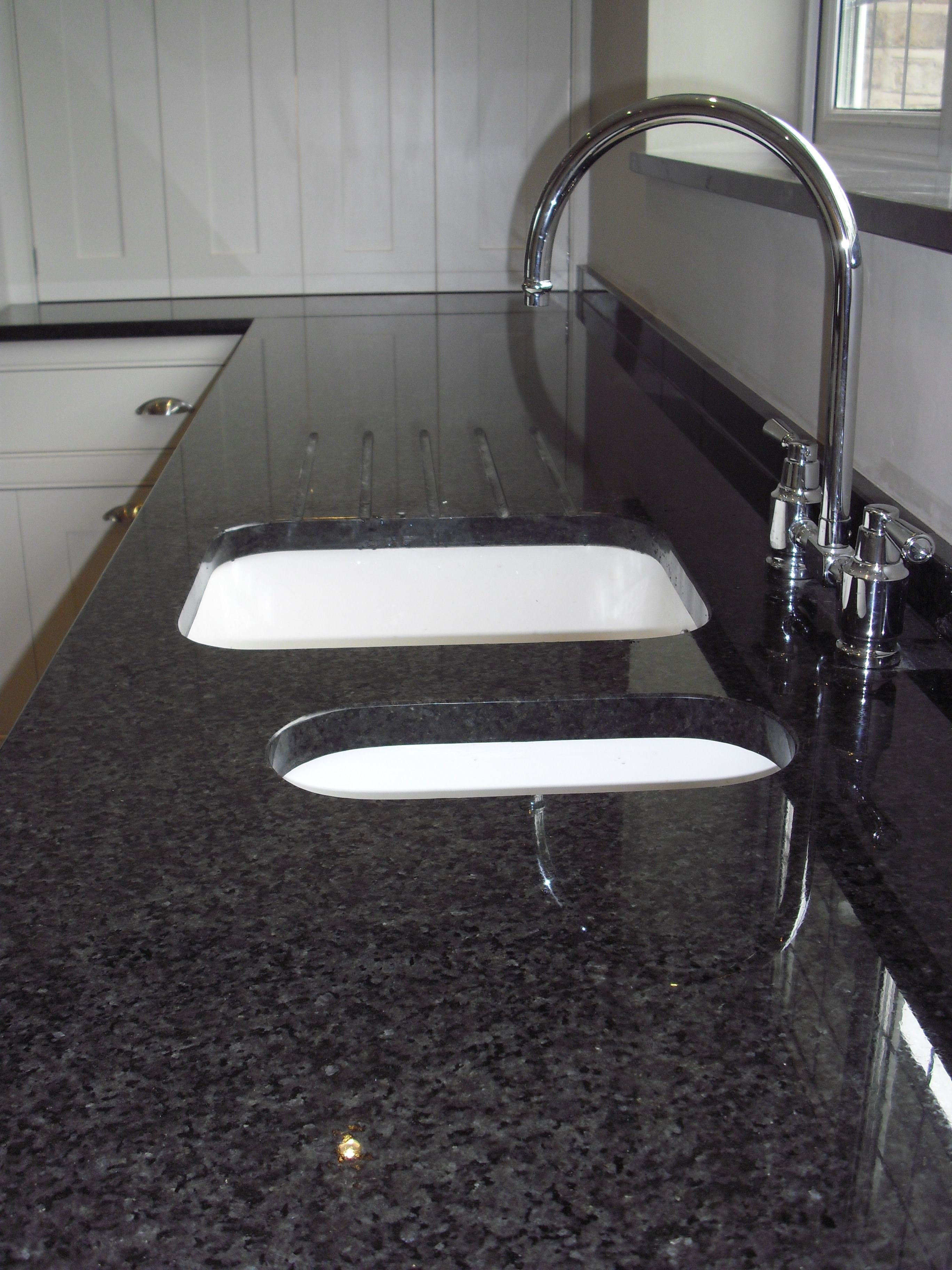Black Pearl Granite Contrasts Nicely With The Cream