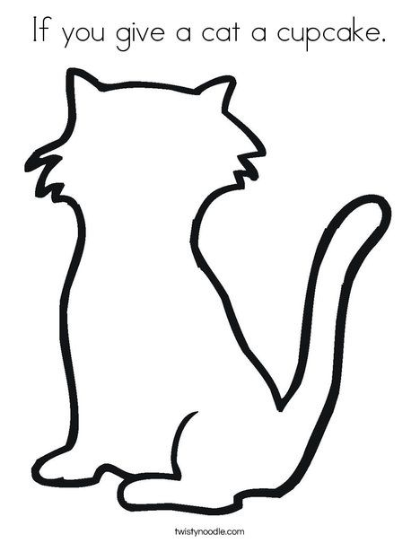 If You Give A Cat A Cupcake Coloring Page Cupcake Coloring Pages Cat Coloring Page Coloring Pages