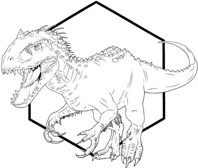 indominus rex dino coloring printable sheet in 2020