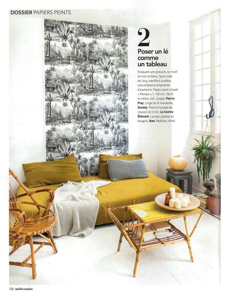 Seguimos De Actualidad Articulo Sobre Pierre Frey En El Jaune Dossier De Art Decoration Papel Pintado Pampa Decoracion Pierre Frey Living Room Lounge