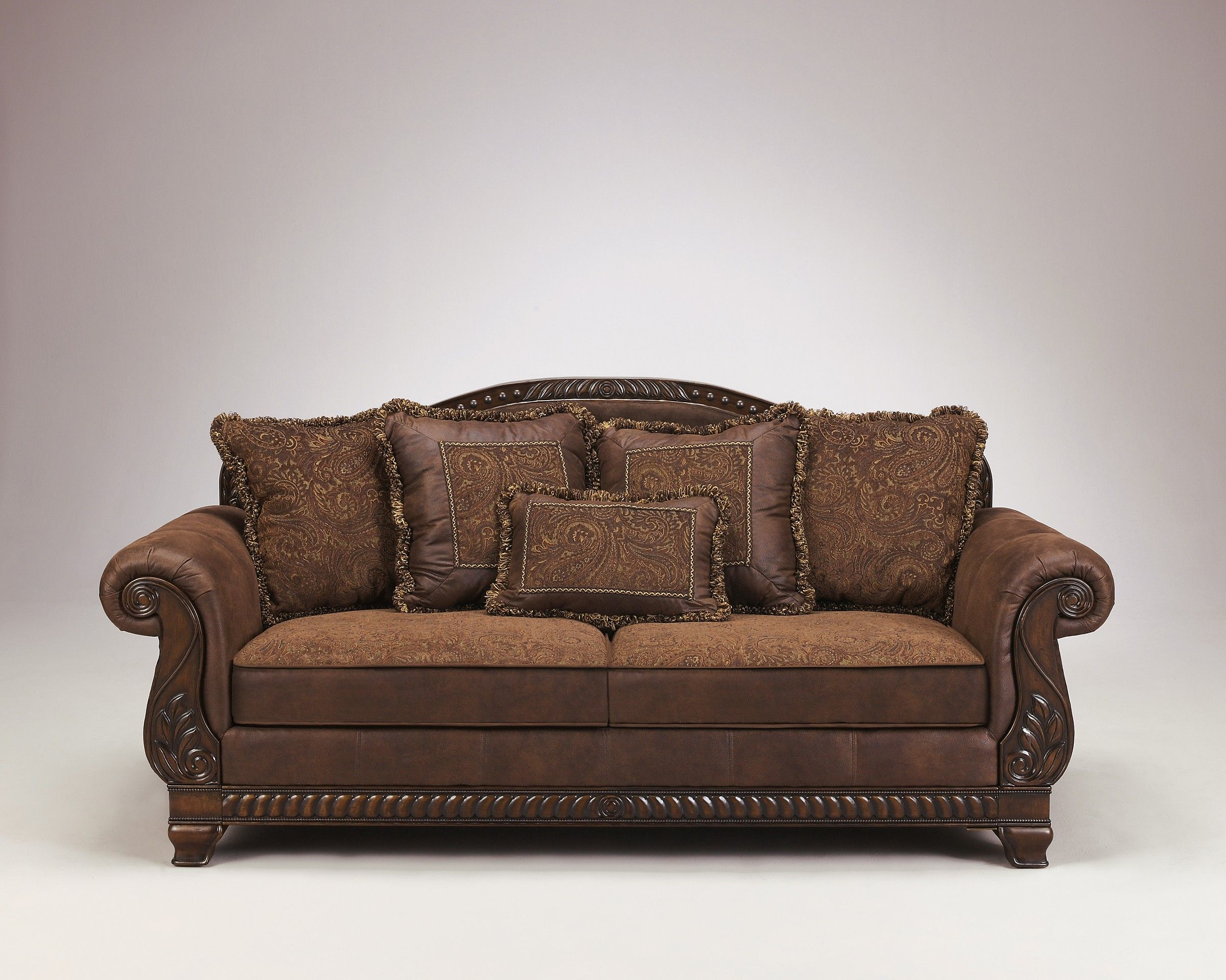 Ashley Furniture Bradington 1540038 Truffle Sofa A