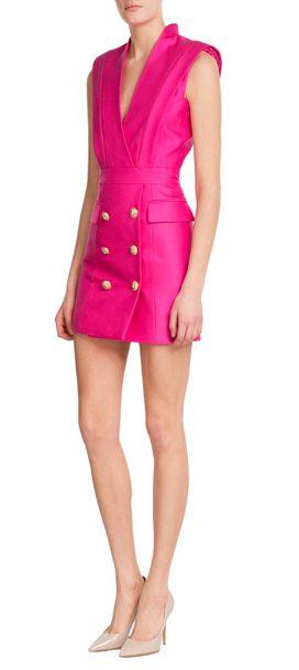 02ca2639efd4 Balmain tuxedo | Shop Women's tuxedo | Lyst | Fashion | Tuxedo dress ...