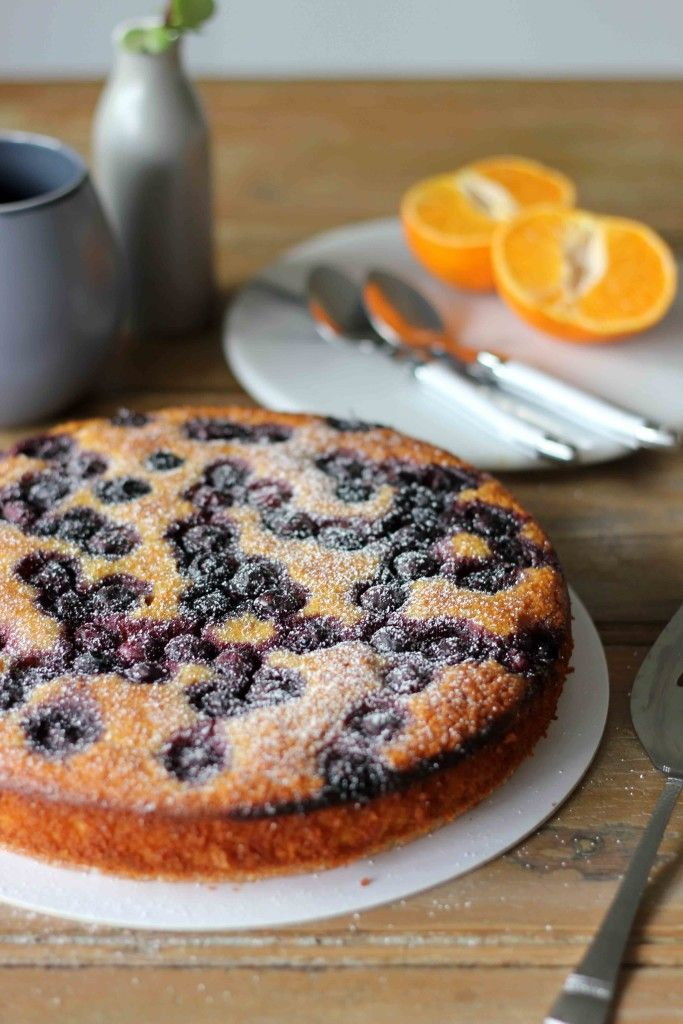 Flourless Mandarin And Blueberry Cake Recipe Almonds Er
