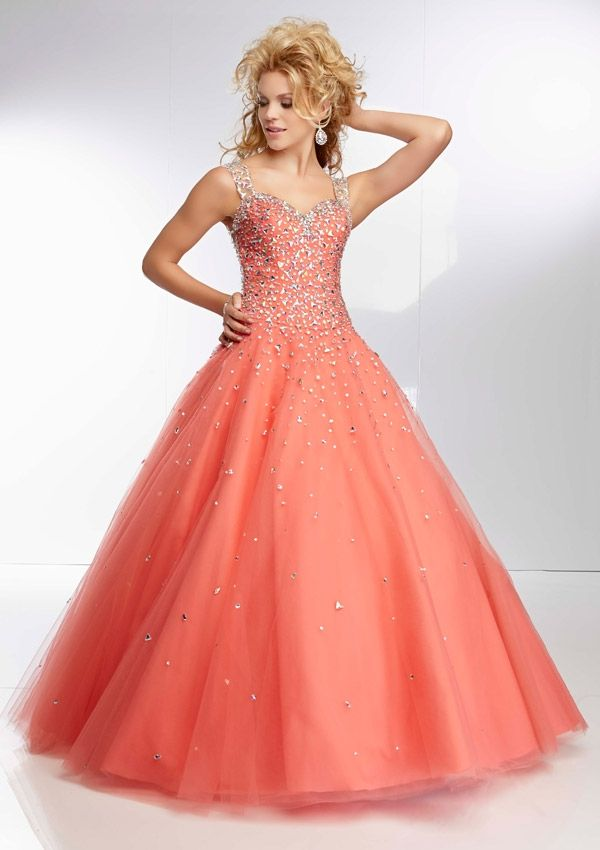 Coral ball gown. In love! | Fashion - Prom dresses | Pinterest ...