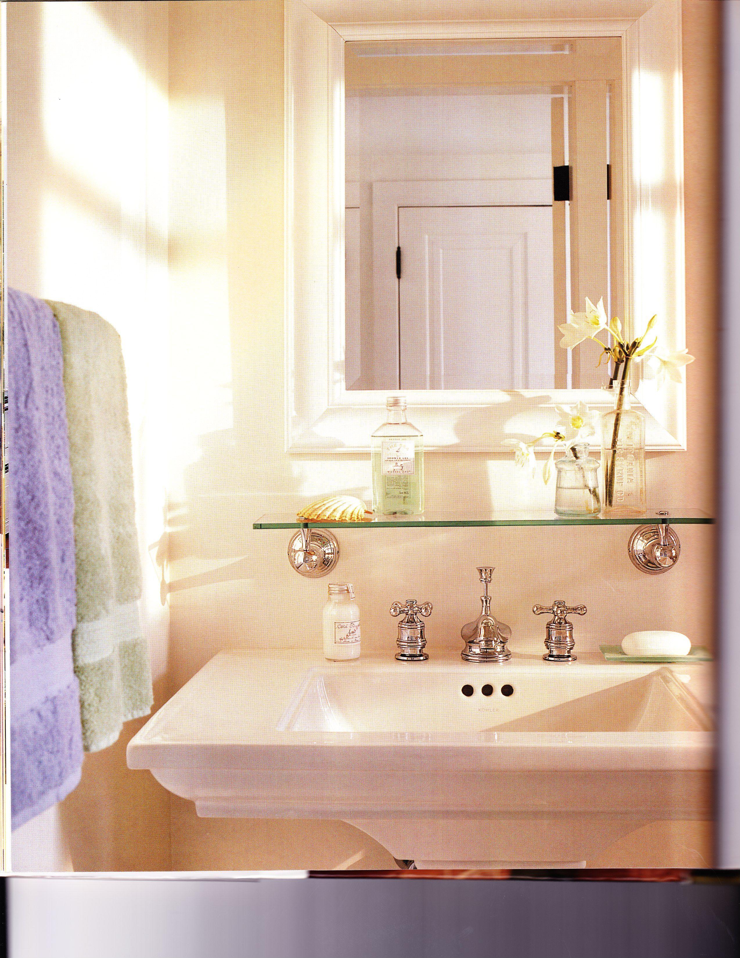Powder Room Pedestal Sink Glass Shelf Pedestal Sink Bathroom Beautiful Bathrooms Powder Room