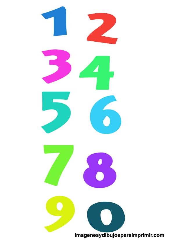 Numeros De Colores Imagenes Y Dibujos Para Imprimir Letras