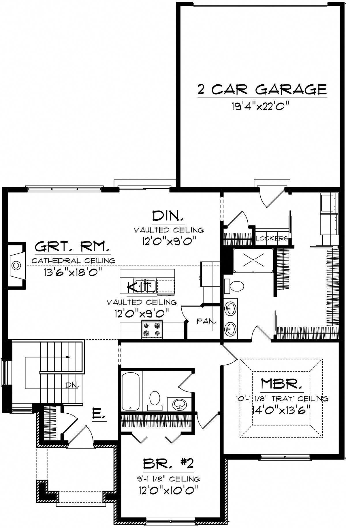 cottage plan 1 398 square feet 2 bedrooms 2 bathrooms 1020 rh pinterest com