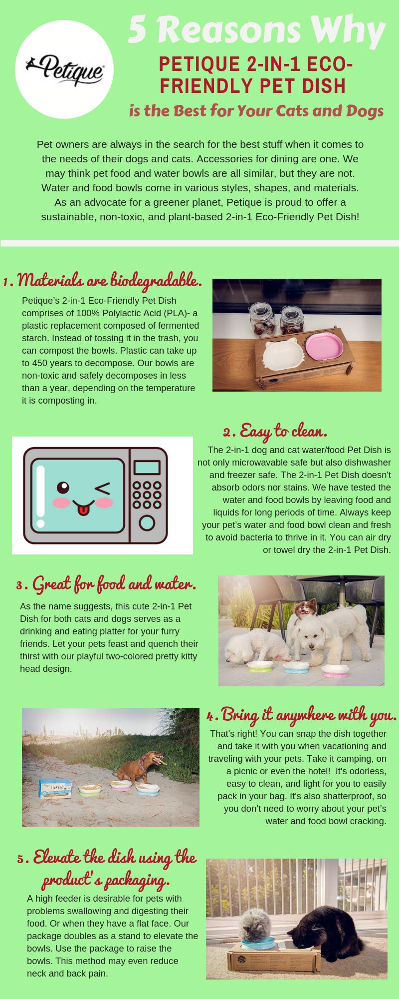 Petique 2-in-1 eco-friendly Pet Dish   Petique Pet Blog