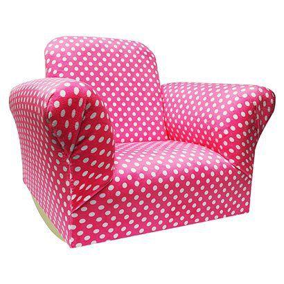 Newco Hot Pink Upholstered Kids Rocker Chair