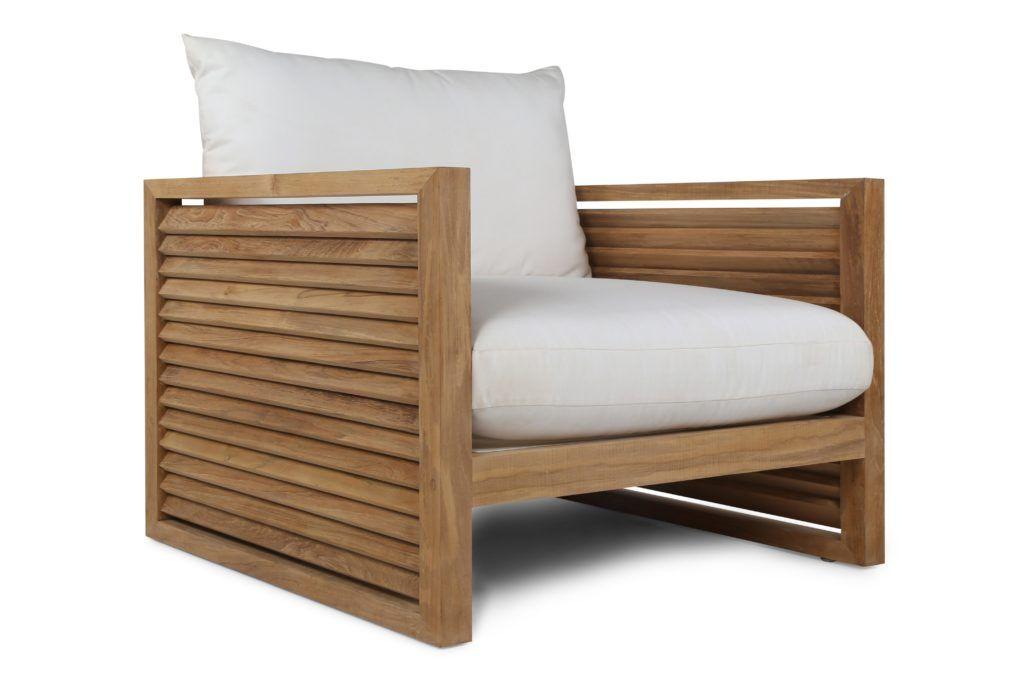Louver Arm Chair Teak Armchair Outdoor Lounge Chair Cushions Arm Chairs Living Room