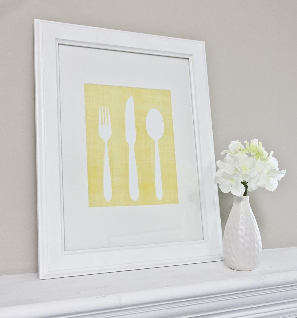 Generous Fork Spoon Wall Art Images - The Wall Art Decorations ...