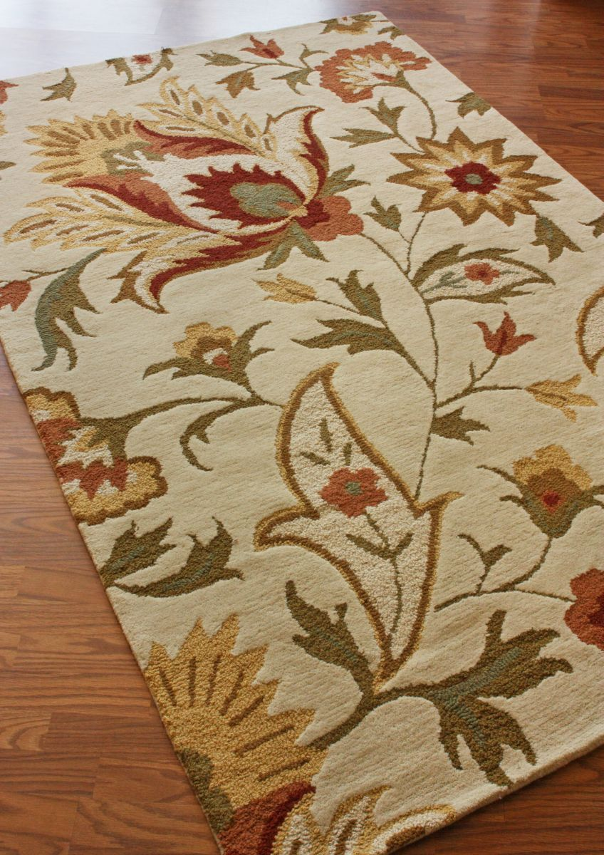 Exceptional Rugs USA Tuscan Fetteresso Ivory Rug Country Cottage, Floral, Soft, Home  Decor,