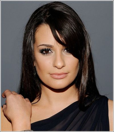 hair style for long faces with big noses lea michele nose type gleeful 5809 | 0705289189fcbc5809f03dc01d0762ca