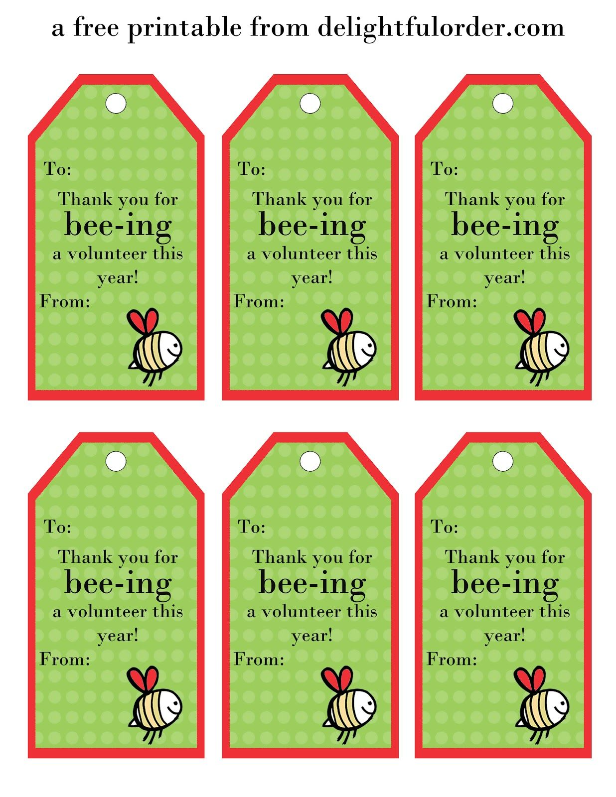delightful order  free printable tags