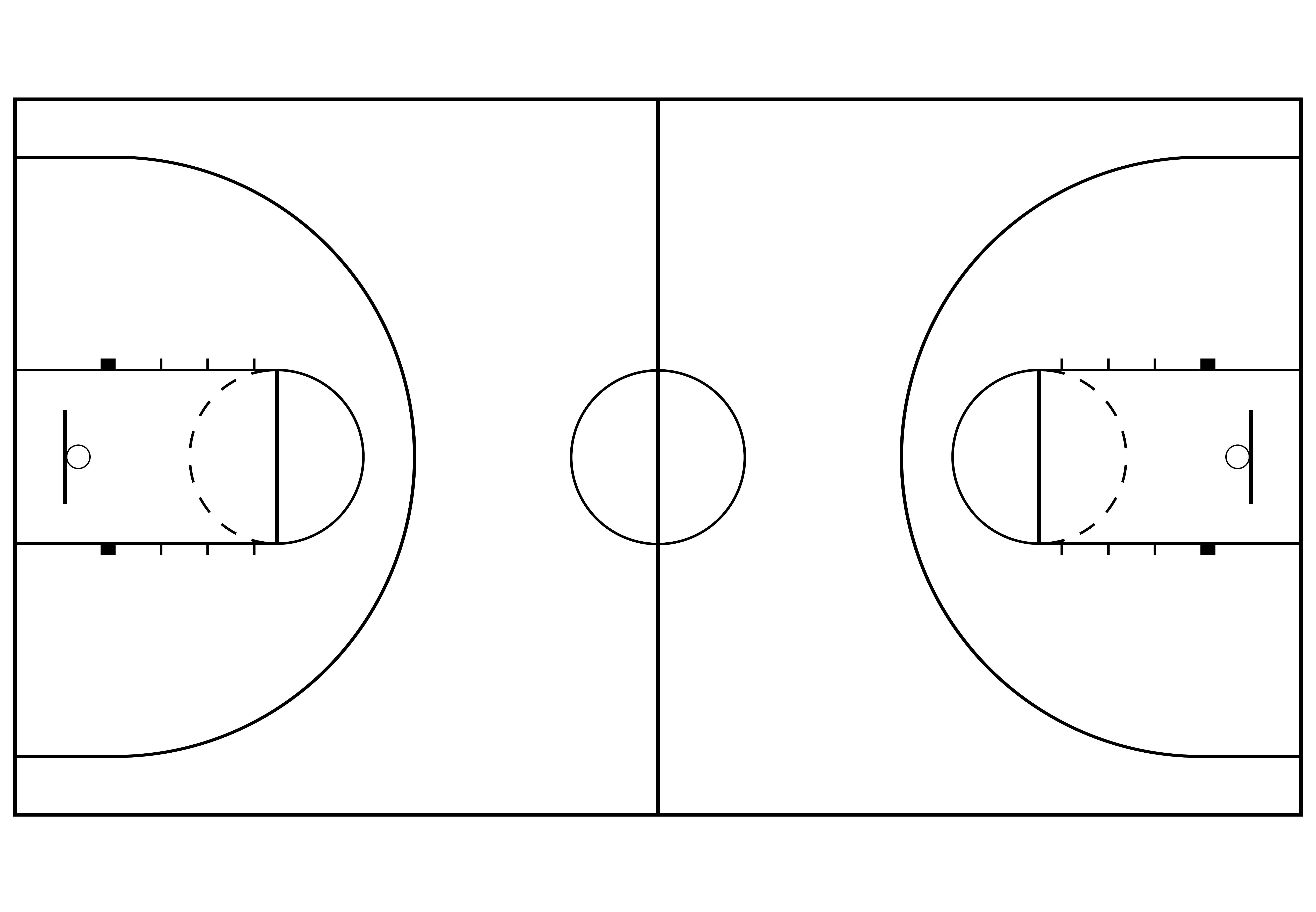 Download Basketball Court Outline