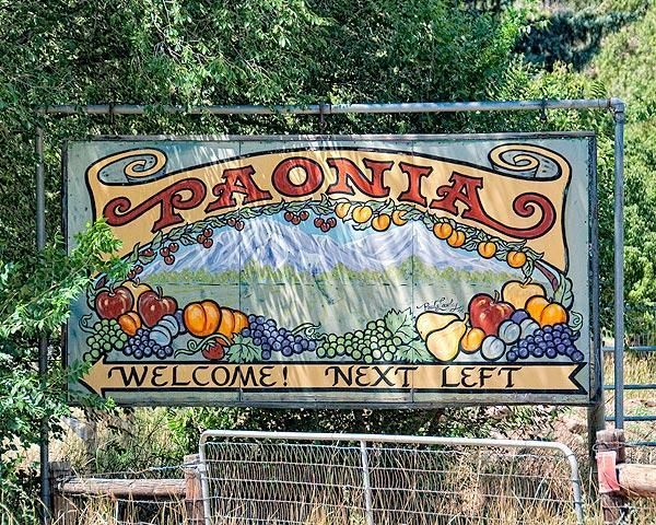 Photograph of the welcome sign in Paonia, Colorado | Paonia, Paonia  colorado, Roadside attractions