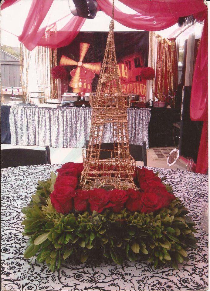 Centro de mesa par s 2 decoracion de bodas for Decoracion xv anos paris