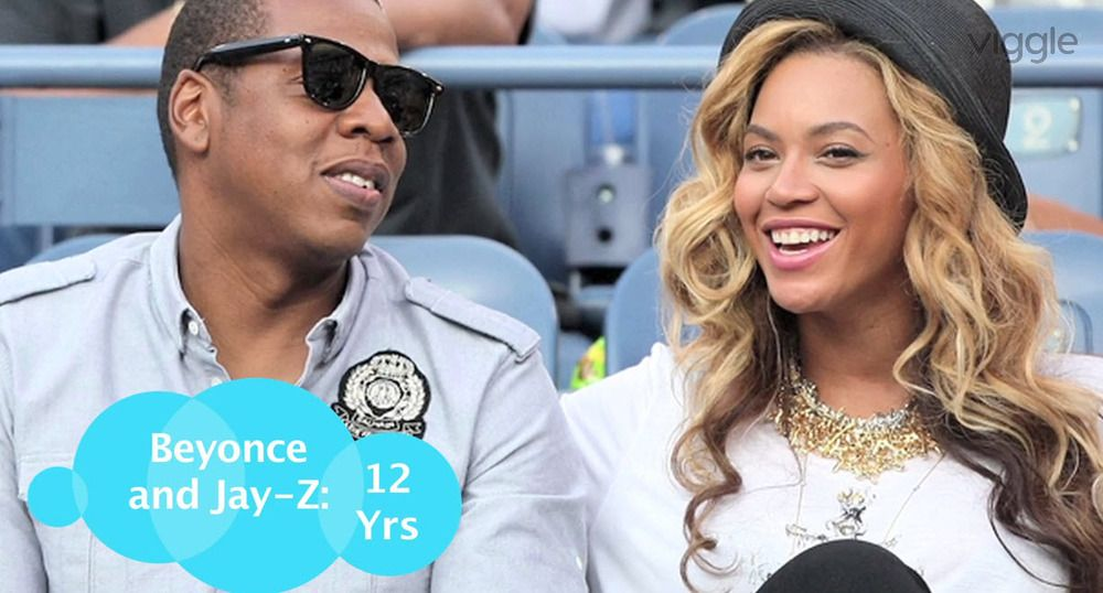 how many years apart is beyonce and jay z