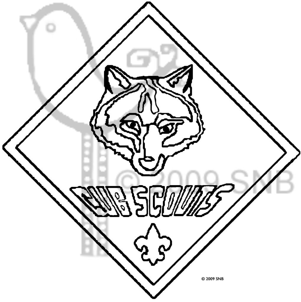 Coloring derby cars - Cub Scouts Wolf Cub Scouts Coloring Pages
