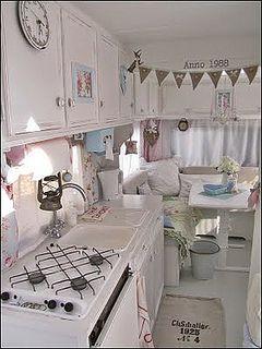 Photo of shabby chic caravan