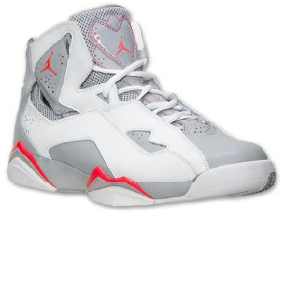 sports shoes 0195c b68c6 NIKE AIR JORDAN TRUE FLIGHT BG INFRARED WHITE GRAY NIKE AIR JORDAN TRUE  FLIGHT BG INFRARED