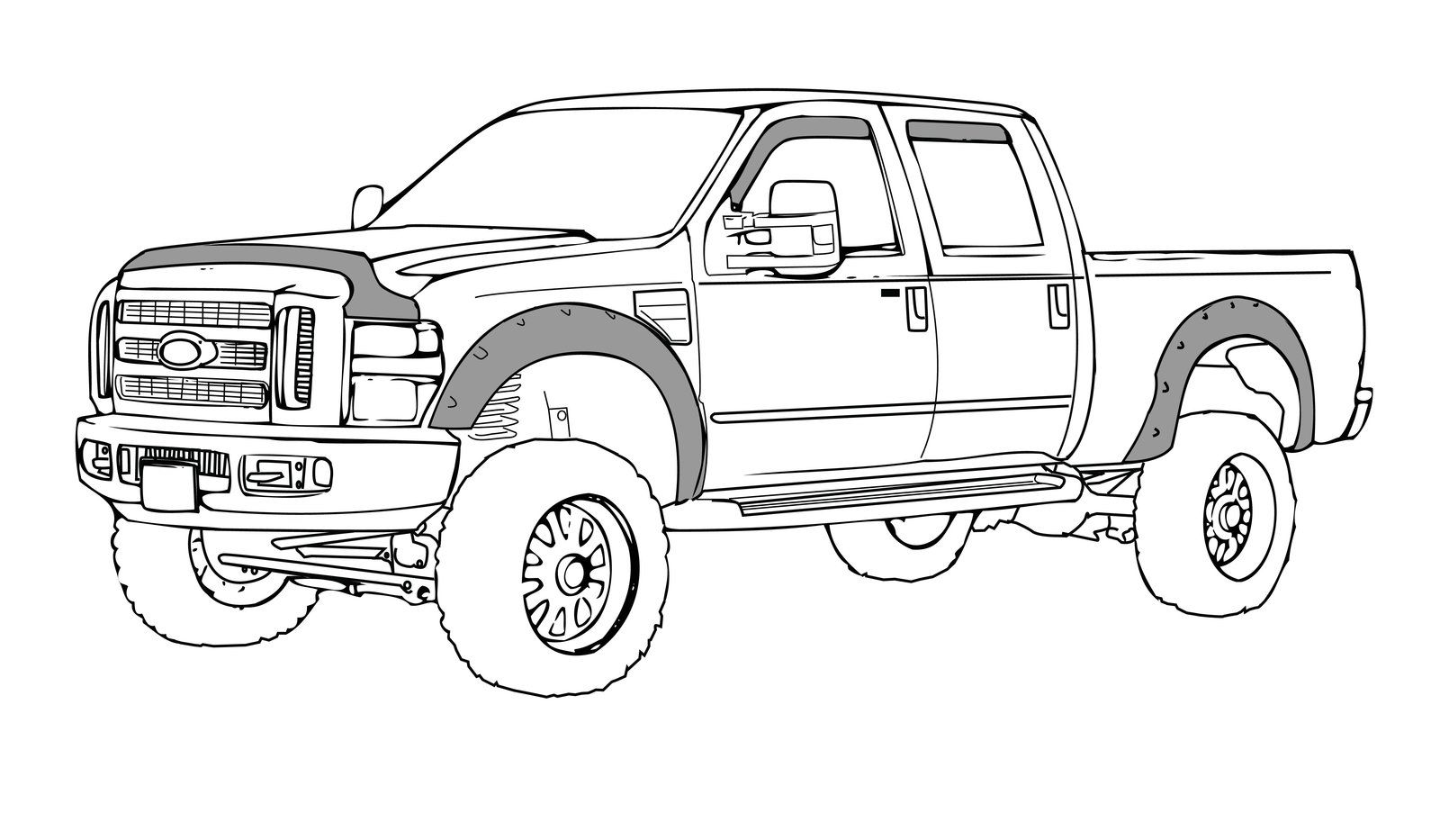 9 Ford Truck Drawings Sketch Coloring Page  Truck coloring