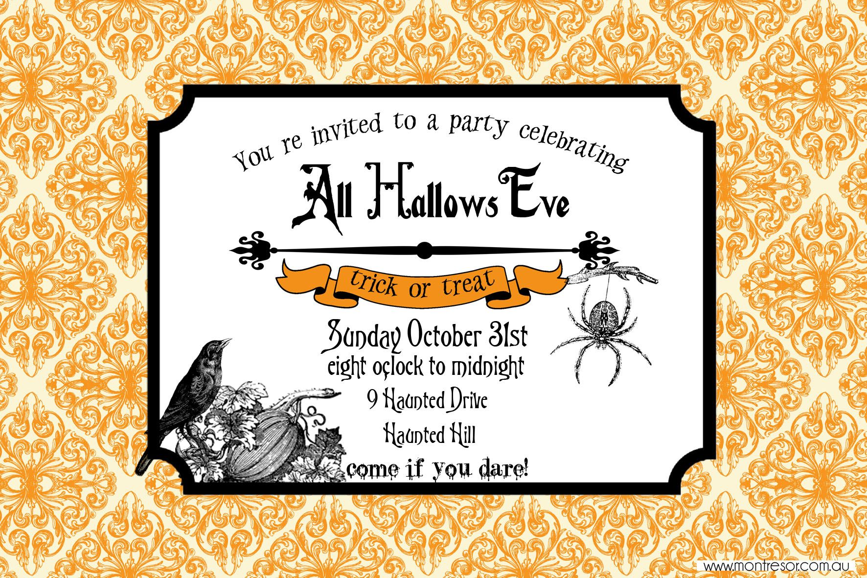 halloween invitations free printable template halloween in 2018