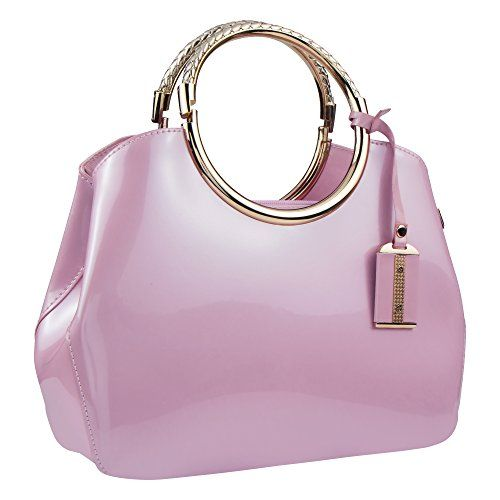 6e21ac2052 Bagood Womens Evening Bags Patent Leather Glossy Handbag Clutches Purses  Shoulder Bag for Wedding Prom Party Pink >>> Want to know more, click on  the image.