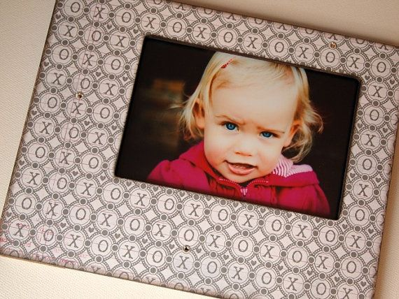 4x6 Hugs and Kisses Picture Frame with by TwoHandsDesigns on Etsy, $24.00