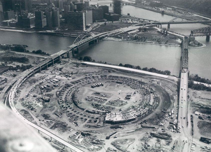 Three Rivers Stadium Construction Three Rivers Stadium Pittsburgh Pennsylvania State Parks