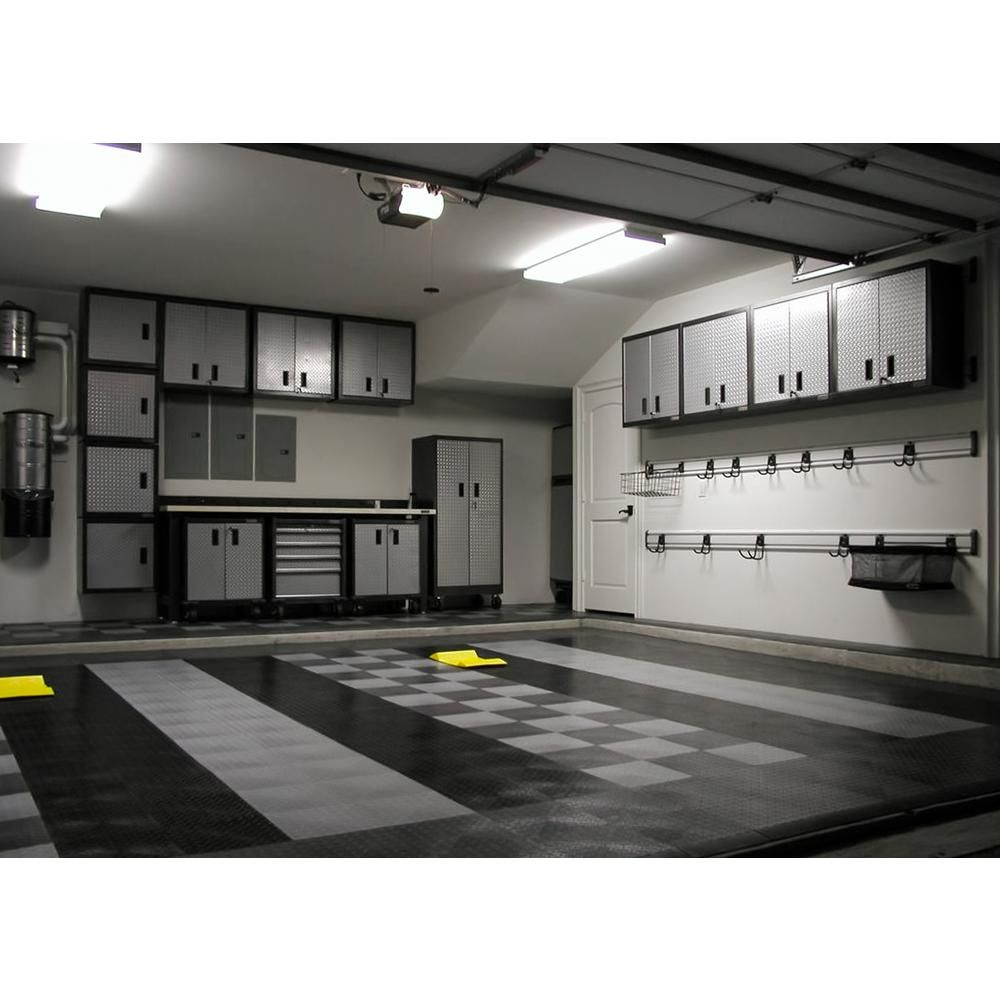 Motordeck 12 In X 12 In Diamond Graphite Modular Tile Garage Flooring 24 Pack G90024grph The Home Depot Garage Interior Garage Makeover Garage Decor