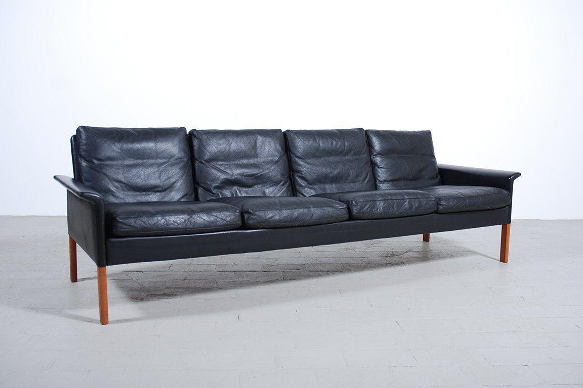 CANAPÉ HANS OLSEN PLACES CUIR NOIR Jasper Couch Matter - Canapé cuir 4 places